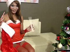 Hark the herald angels sing this ladyboy has a big cock. Boy are you guys in for a treat this Christmas. What better way to celebrate the coming of Santa Claus than with a tgirl named...