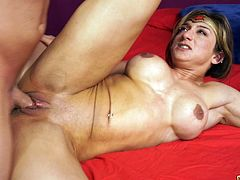 Muscular costume girl drilled by the thickness of his dick