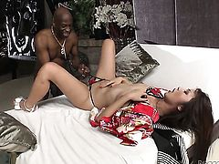 Exotic cant stop fucking in interracial sex action