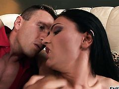 Honey Demon and horny dude having vigorous sex