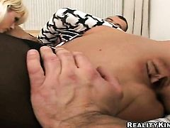 Blonde Tony with big booty and clean muff makes a dream of never-ending cock sucking a reality