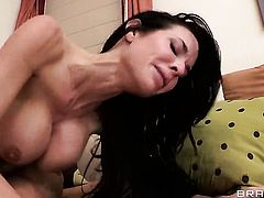 Milf Veronica Avluv with giant boobs enjoys hard sex with her bang buddy too much to stop