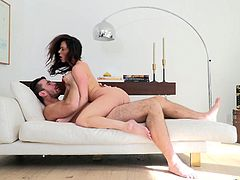 When Kendra and Manuel get together, sparks fly. The supersexy hunk and the elegant milf have endless passion. She opens her legs for him, to shows off her aged cunt and he gets deep inside of her. Look at how she rides his stiff erection and sucks him off.