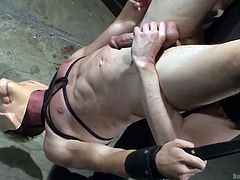 Hudson goes to any stage to satisfy his mate and here, even though he is tortured and punished, he satisfied Daniel. Daniel covered his mate's face and the latter had no idea, what was going on. Hudson experienced pain and pleasure at the same time. See the full video. You will surely enjoy it.