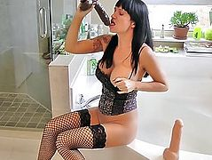 HOT mother I'd like to fuck ANGIE NOIR  SQUIRTING DEEPTHROAT COMPILATION