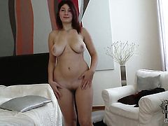 Nanny exposes her private parts