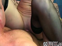 Horny granny Ivet is fucked hard in doggystyle