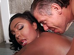Layton Benton is one hot bitch. Nice pair of tits, cute face and best of all, big juicy ass! Lucky is the guy who gets the chance to put his dick inside that tight brown asshole. Just imagine slapping her ass, while pounding that tight butt hard as you can. Gotta love slutty bitches who love anal!