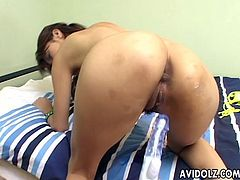 Incredible Asian babe has a very sweet wet pussy she gets to have fingered and sex toy slammed. She adores the way it all goes down and she cums within just minutes of her session.