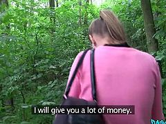 She was an easy prey. I only flashed my money and Sarah was already willing to do everything. I don't need a lot, just one proper blowjob at outdoors. She showed me her bubble butt and dropped on her knees. I hope someone will pass by, to envy me...