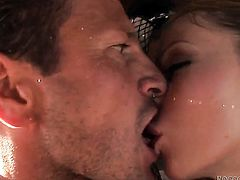 Well-experienced harlot Aleska Diamond is out of control with pulsating cock in her wet hole