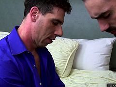 None of them expected, that their dirty talk leads to gay sex. In the casual chat, both of them revealed, that they were gays and the erotic feelings took them over. Finally, Jaxton Wheeler stuffed his big dick in Tony Salerno's ass and emptied his balls inside.