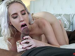 Cadence finally takes the big black cock straight into her tunnel
