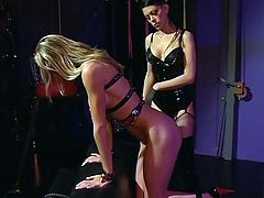 Mistress and her big boobs slave girl play together