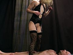 Blonde Ash Hollywood makes mans sexual fantasies come true