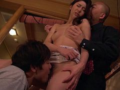 Guys bust a nut up inside the Japanese creampie lover