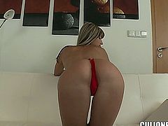 Tight Russian hottie Gina Gerson with bald pussy gets nude