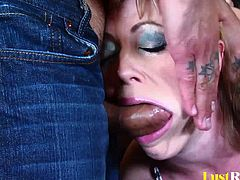 After meeting up with her lover, Adrianna Nicole was quite confident that she can make him cum, and she was right. He made her deep throat his massive dong, after which he slammed her in all positions!