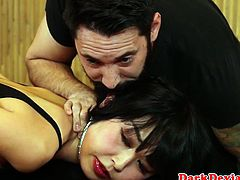 Sub asian sexslave Marica Haze cumswallows