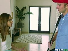 Pretty teen Alice decides to provide the guy with her tight asshole