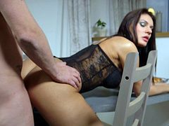 Exotic beauty is happy to have her anus bonked in all the positions