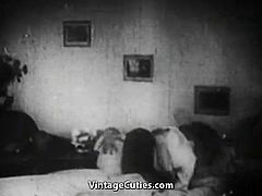 Couple's Wild Honeymoon Fucking Night (1940s Vintage)