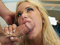 Shyla Stylez got on her knees and sucked that jock
