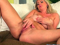 Well rounded milfs Ria Black and Britney strip off their clothes