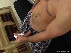 Cameron Kincades sweet face and rocking body are showcased in this solo, where he kicks back, strokes his cock and balls, while fingering that delicious hole. A long cock stroking follows, until he finally cant hold it back and erupts like a volcano spewing his warm cum all over the place.