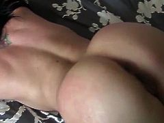 'Mia Rose' gets fucked silly on her bed.