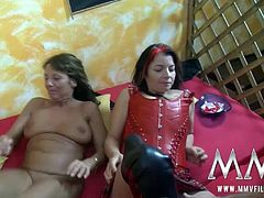 Horny German couples are into sharing their wives in order to enjoy different pussies. The fuck each other and cum all over their tits.