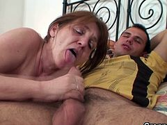 old granny and younger stud fucking