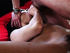 Marco Banderas drills breathtakingly beautiful Kira Noirs mouth just like mad