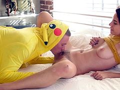 Visit official Teen Pies's HomepagePokemon go hunting ends up with hardcore sex along Pkachu. Slutty teen feels extreme with his magic dick inside her trimmed cunt