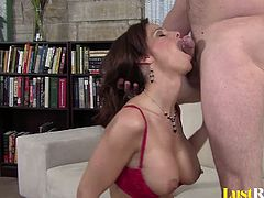 Are you in the mood to watch an experienced chick suck off a huge member? Well, if you are then make sure to watch Syren De Mer as she kneels down and gives us the greatest performance!