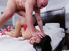 My ex-girlfriend allowed me to fuck her last time. I wanted to bang her really hard, that her pussy remember my cock for whole life. She agreed to go rough and I shoved my fat dick in her tight hole. I put her leg on my shoulder, squeezed her breasts hard, and drilled her ass. I spanked her and cum on her face.