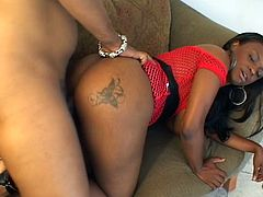 Big tits ebony loves a big hard cock