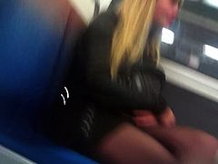 nice legs young in metro