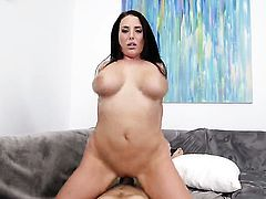Angela White gets her twat trained by rock hard snake of hot guy