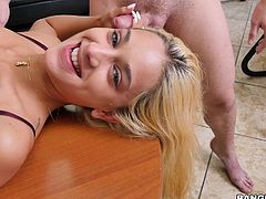 Uma Jolie wanted to get into the world of porn and what is the best way to start your career, than Bang Bros. So, she came on our Bang Casting, looking for the right dick to suck, to get a good promotion. Watch Uma sucking cock and balls, on knees, then, while lying on the table, with great passion. Have fun and enjoy the spicy moments!