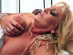 Hot tempered BBC fucks old cunt of lustful old whore Magdi