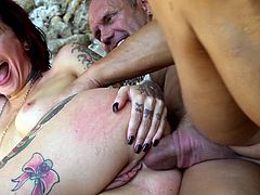 Visit official Burning Angel's HomepageTattooed honey endures fat inches of hungry cock down the butt hole in superb outdoor scenes by the beach, a true delight for her horny partner