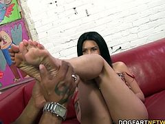 Like my feet? Fuck that. You know you LOVE my pretty, little feet and would do anything I say to just get near them. Watch Shane Diesel worship my feet right before fucking my arches...