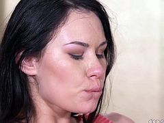 Nikki is getting hot from her lover rubbing her down below. He gets his fingers and tongue in there, making her moan louder and louder. She really gets vocal, when he slips into her velvety, moist box and begins to stroke.