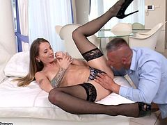 Natasha Starr is helluva cock sucker. This babe adores big fat meaty dicks. She cannot imagine a single day going by without a fat dick in her mouth. She just loves the sensation she feels, as big cock spreads her throat wide, making her choke. Would you love a blowjob from Natasha?! You'll love it!
