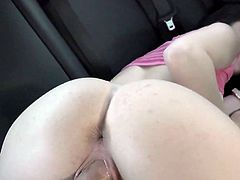 Visit official Mofos Network's HomepageKacey Quinn takes down her pink undies and starts dealing cock right down the vag in a superb series of amateur car sex with her new boyfriend