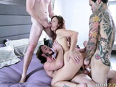 Milf Syren De Mer with big tits takes ram rod in her bum