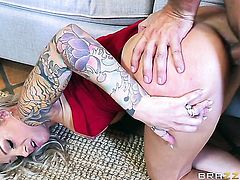 Keiran Lee is ready to make adorably sexy Synthia Fixxs every anal dream a reality before she gets her throat banged