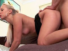 Blond hottie Carla Cox has sex with her new passionate lover