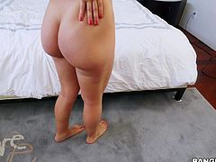 Marta likes to be controlled by a giant cock. The beautiful babe is on her knees in front of my strong cock. This is where she needs to be, because she is so skilled at sucking dick. Next up is her round ass. She bends over, so I can plow right her wet pussy, while I grab her juicy booty.